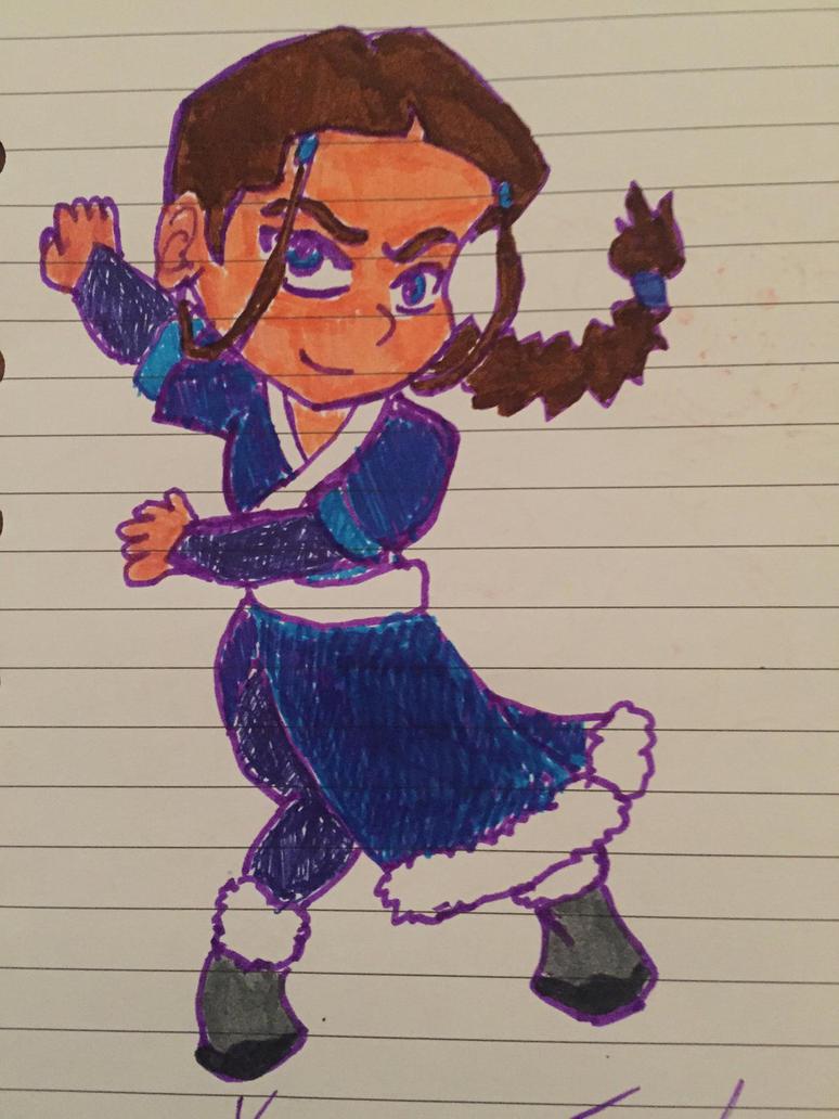 Chibi Katara  by FireNationPhoenix