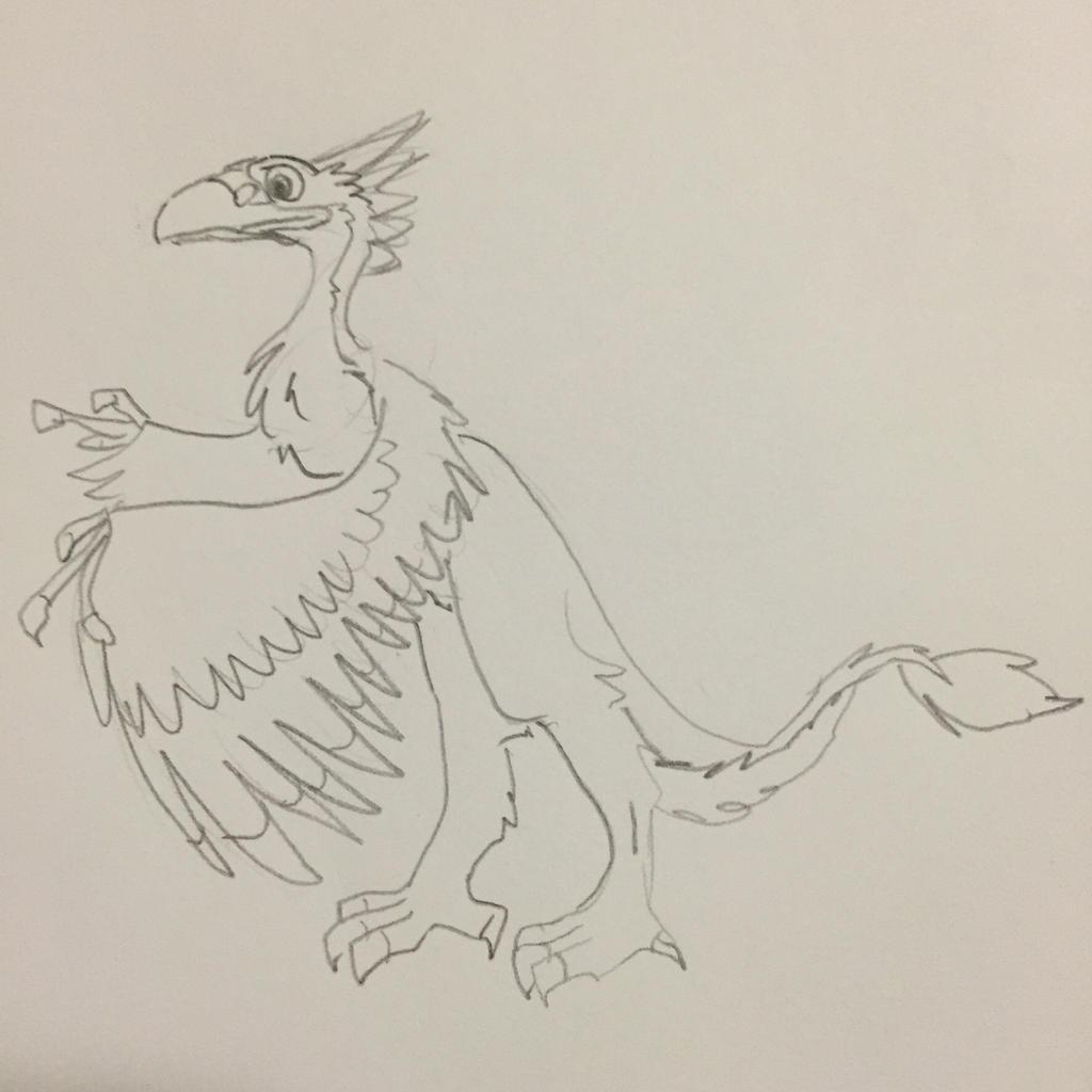 Pterophoenix chick for ZuuZombie by FireNationPhoenix