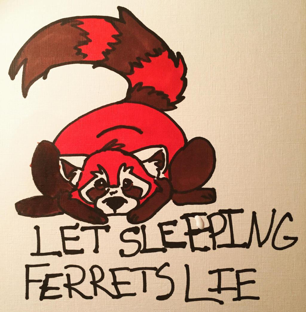 Ferrets Are Tired by FireNationPhoenix