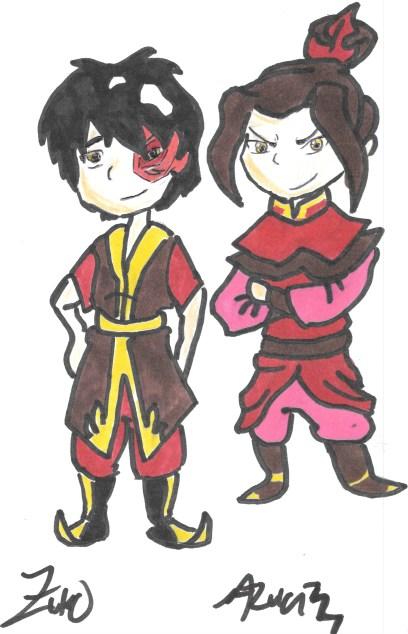 Avatar Autographs: Zuko and Azula by FireNationPhoenix