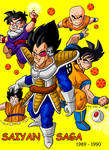 Dragon Ball Z Saiyan Saga Poster by FireNationPhoenix