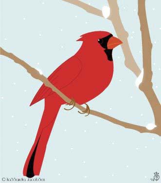Winter Cardinal by j0wey