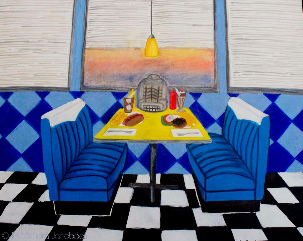 Retro diner by j0wey