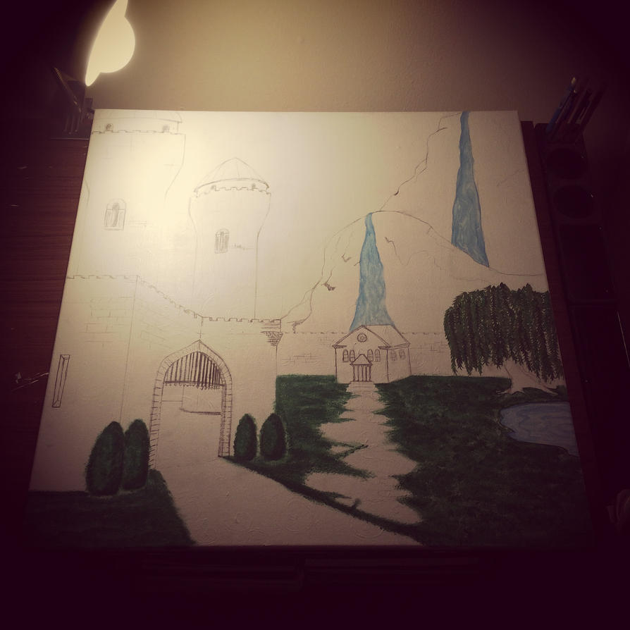 Castle Landscape Project WIP 3 by j0wey