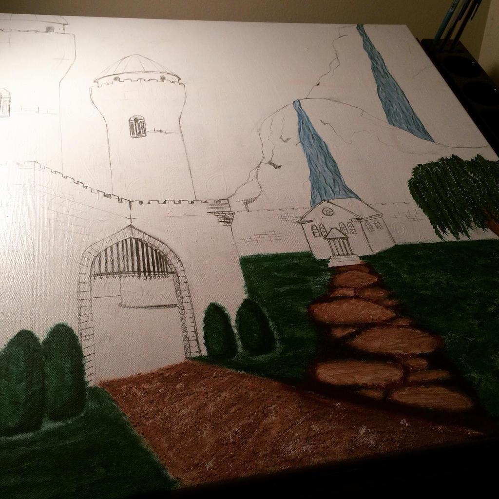 Castle Landscape Project WIP 5 by j0wey