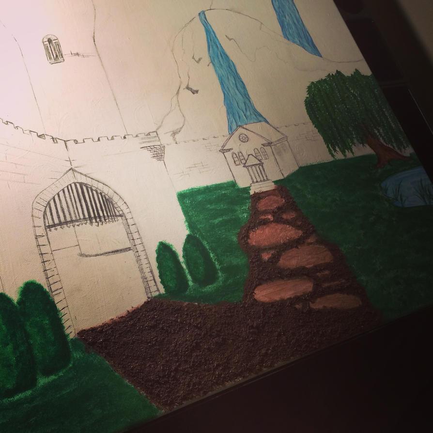 castle Landscape Project WIP 7 by j0wey