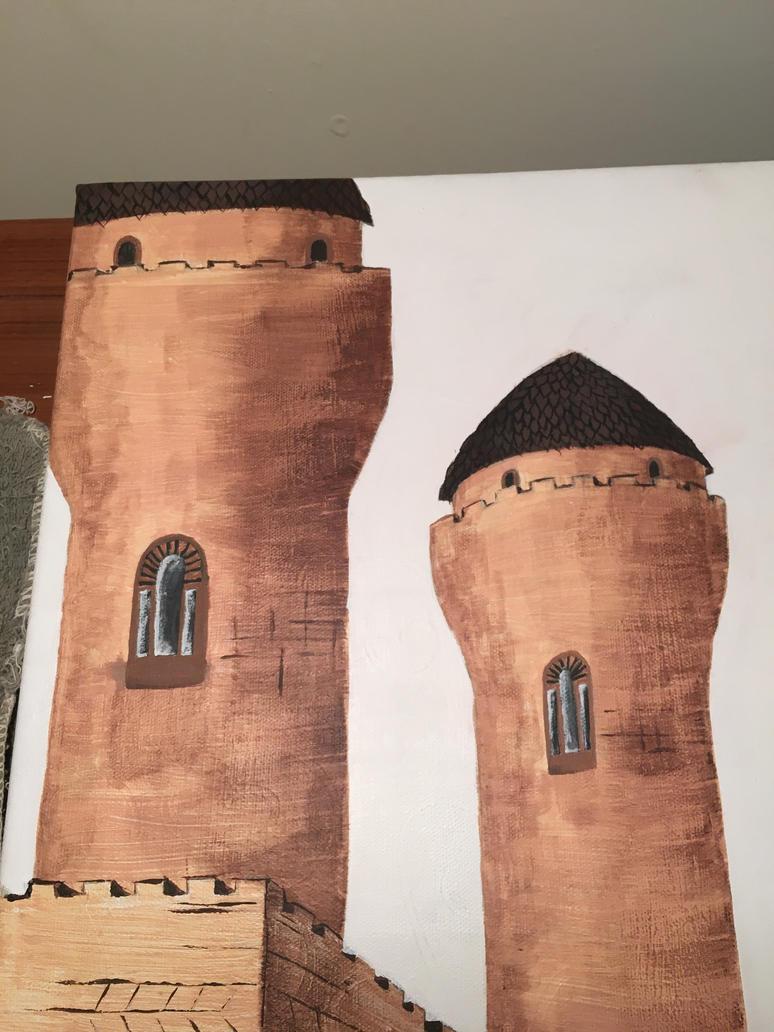 Castle Landscape Project WIP 8 by j0wey