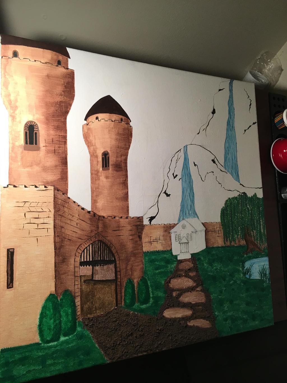 Castle Landscape Project WIP 9 by j0wey