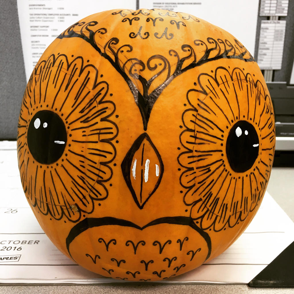 Pumpkin Owl by j0wey