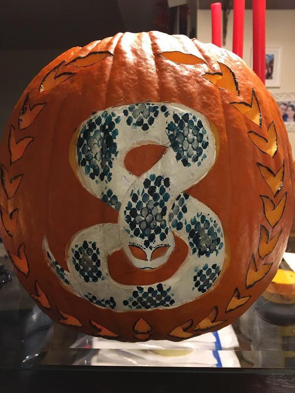 Pumpkin Snake by j0wey