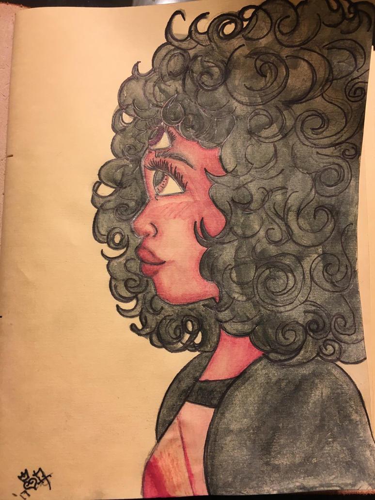 Garnet Watercolor by j0wey
