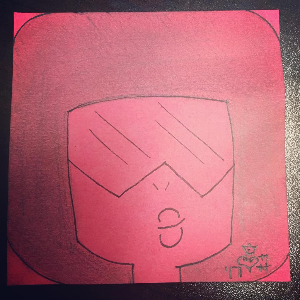Garnet Post-it note by j0wey