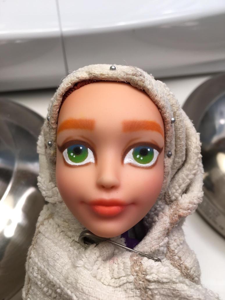 Doll Repaint 2 WIP 2 by j0wey