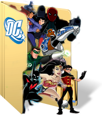 DC Animated Universe Folder Icon by GreedLin
