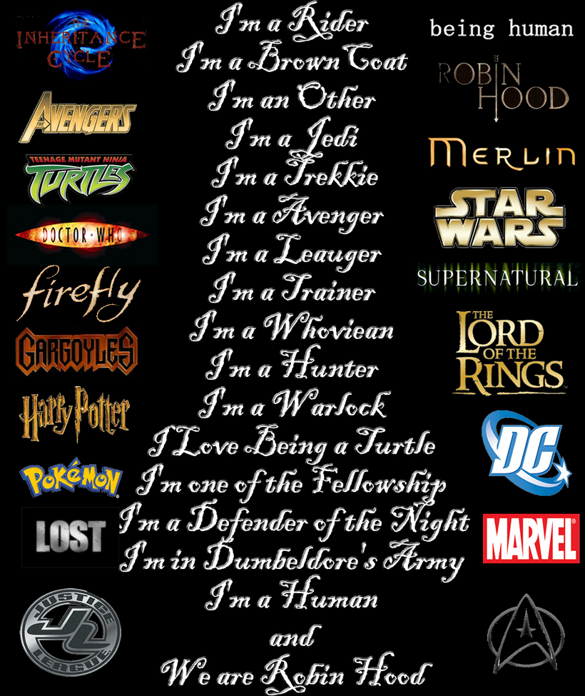whats your fandoms by greedlin on deviantart