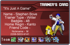 My Trainer Card by GreedLin