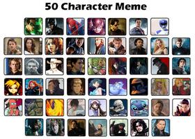 50 Character Meme by Greedlin