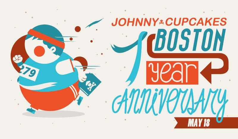 Johnny Cupcakes Boston 7 Year Anniversary Fan Art By