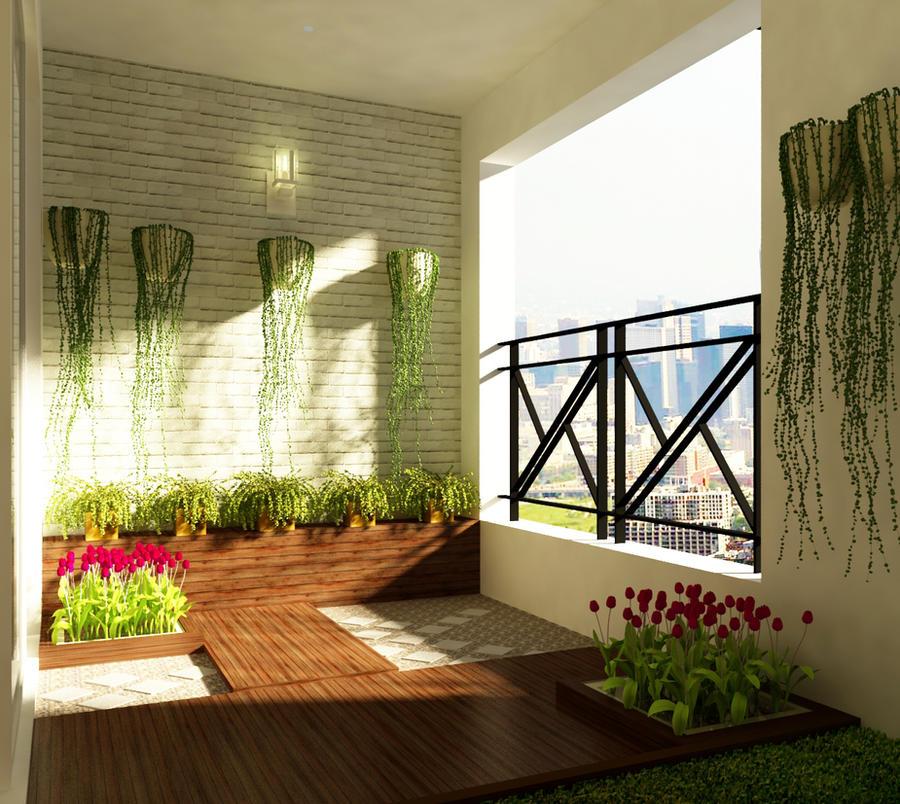 Small garden at the loggia by ttt07k6 on deviantart for Garden loggia designs