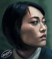 Face Study - Rinko Kikuchi