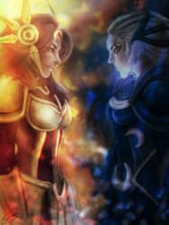 Leona vs Diana by Mariana-S