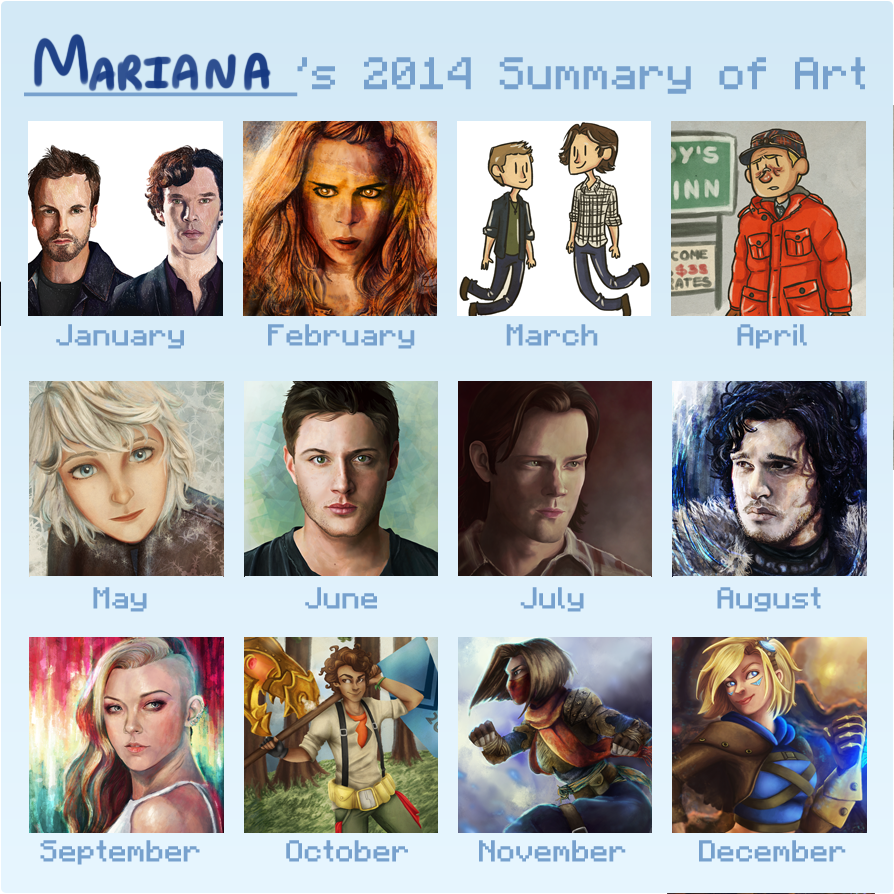 Summary of art 2014 by Mariana-S