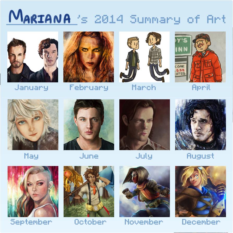 Summary of art 2014 by Mariana-S