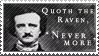 Edgar Allen Poe stamp by Kixxar