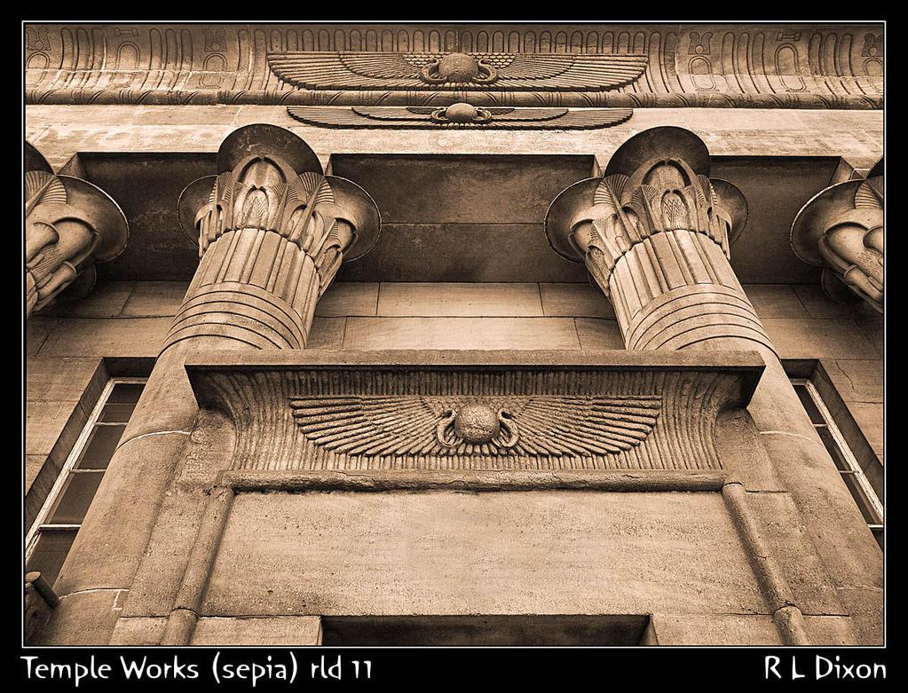 Temple Works (sepia) rld 11 dasm by richardldixon