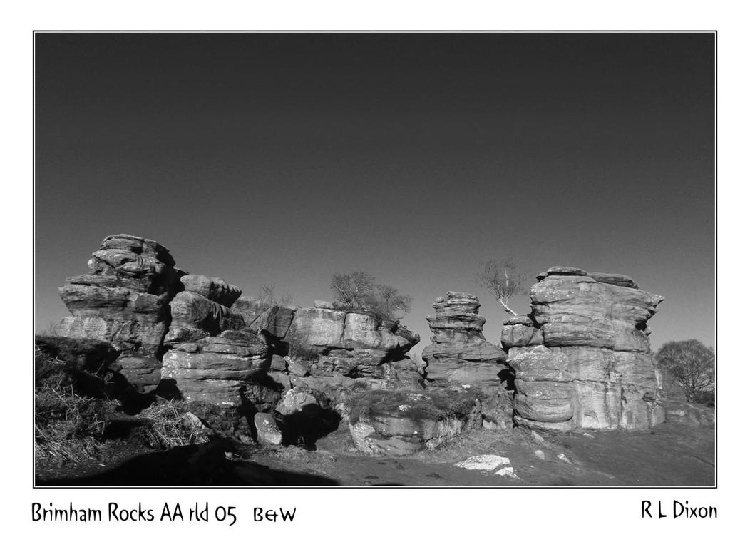 Brimham Rocks AA rld 05 B&W dasm by richardldixon