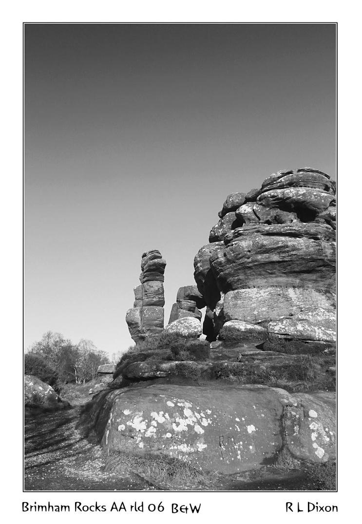 Brimham Rocks AA  rld 06 B&W dasm by richardldixon