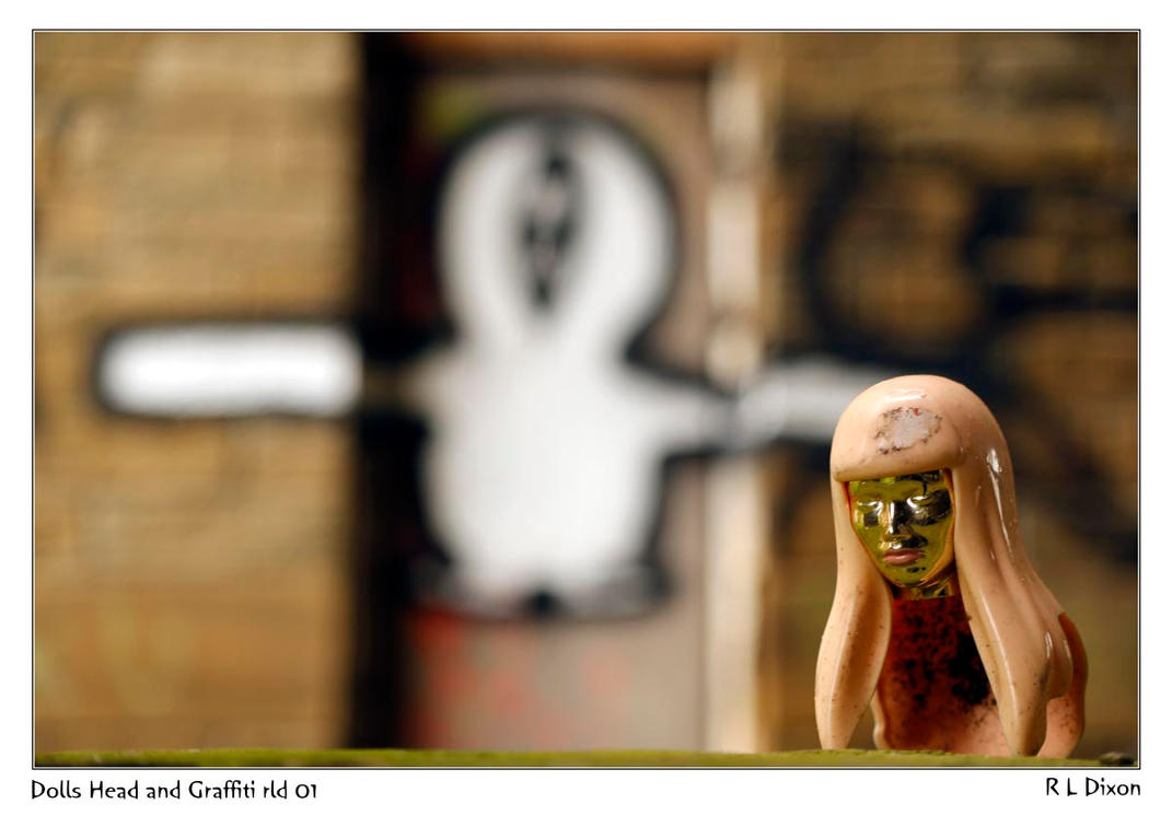 Dolls Head and Graffiti rld 01 dasm by richardldixon