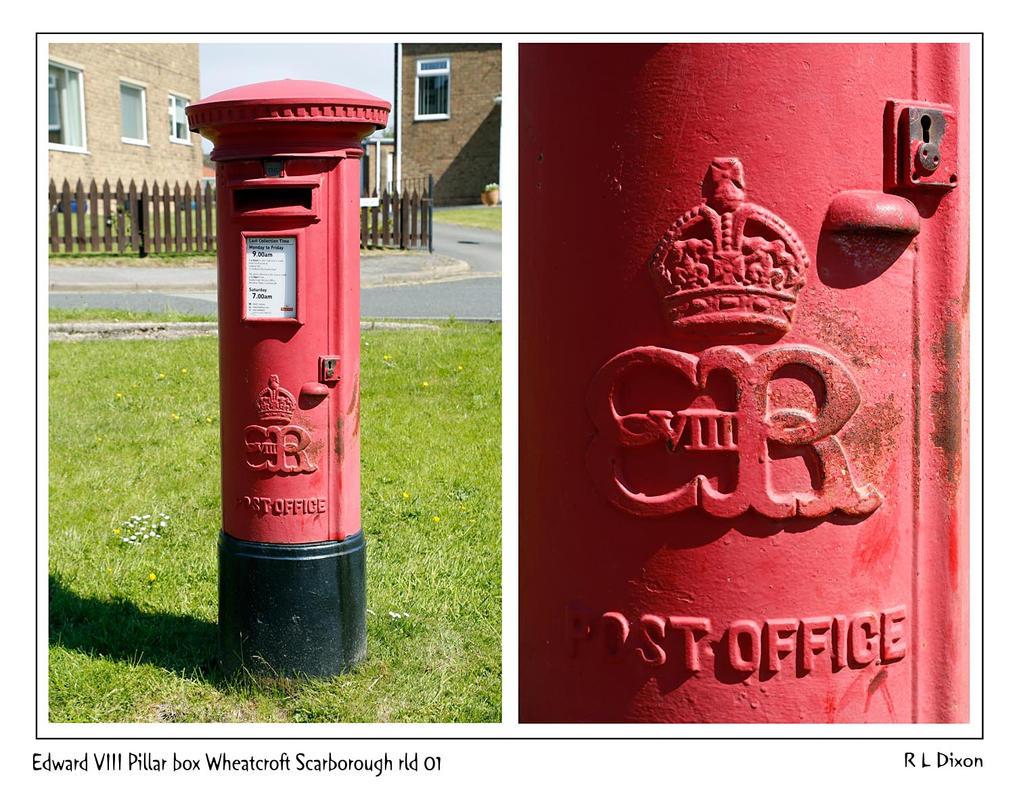 Edward VIII pillar Box Wheatcroft Scarborough rld  by richardldixon