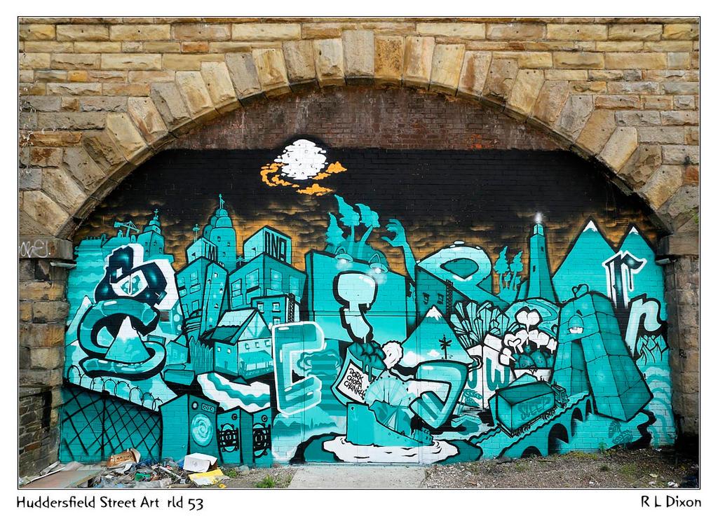 Huddersfield Street Art  rld 53 dasm by richardldixon