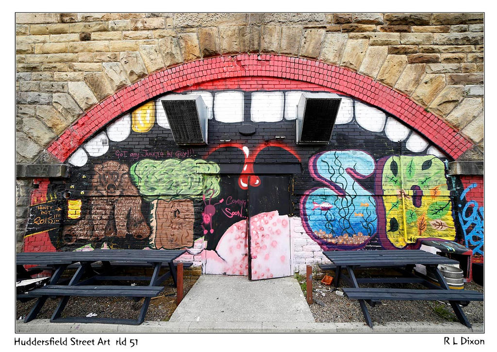 Huddersfield Street Art  rld 51 dasm by richardldixon