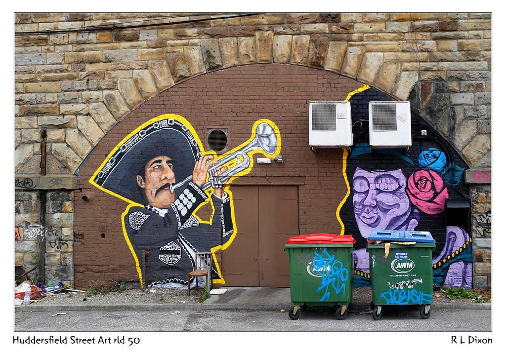 Huddersfield Street art rld 50 dasm by richardldixon