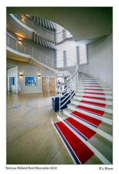 Staircase Midland Hotel Morecambe rld 01 dasm