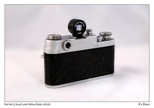 Fed mk 3 (rear) and Helios viewfinder rld 02 dasm
