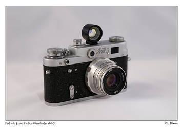 Fed mk 3 and Helios viewfinder rld 01 dasm
