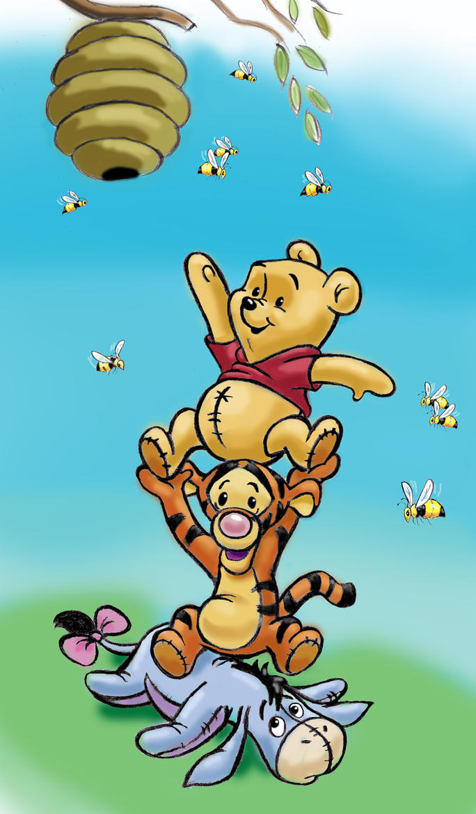 It's just an image of Invaluable Baby Winnie the Pooh and Friends