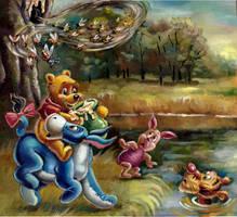 Winnie the Pooh, Eeyore,Tigger, Piglet by CuteLittleAnimals