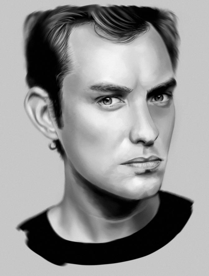 Jude Law by Moniczqa93