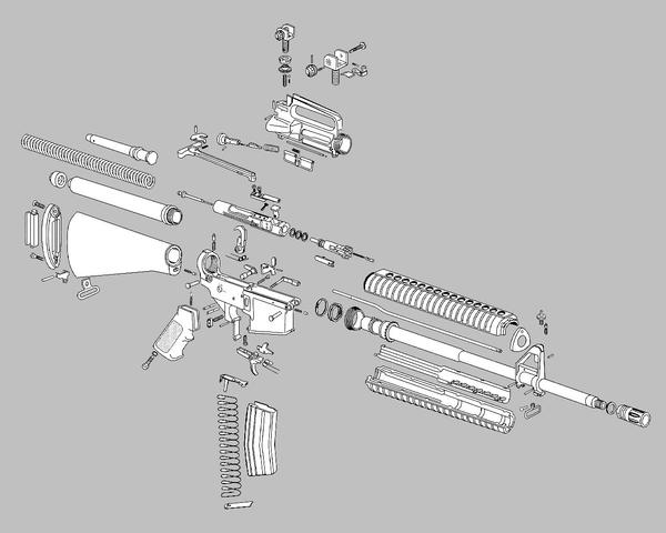AR      15    Exploded Parts Grey by Aidank on DeviantArt