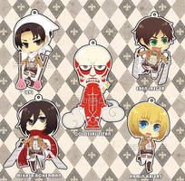 SNK Acrylic Charms by Rinslettuce