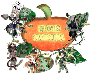 Halloween Gatcha 2016 by Rinslettuce