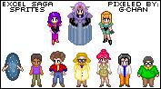 Excel Saga Sprite Series by splendidpixels