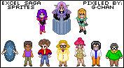 Excel Saga Sprite Series