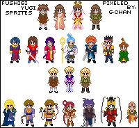 Fushigi Yugi Sprite Series by splendidpixels