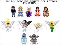 Ah My Goddess Sprite Series by splendidpixels