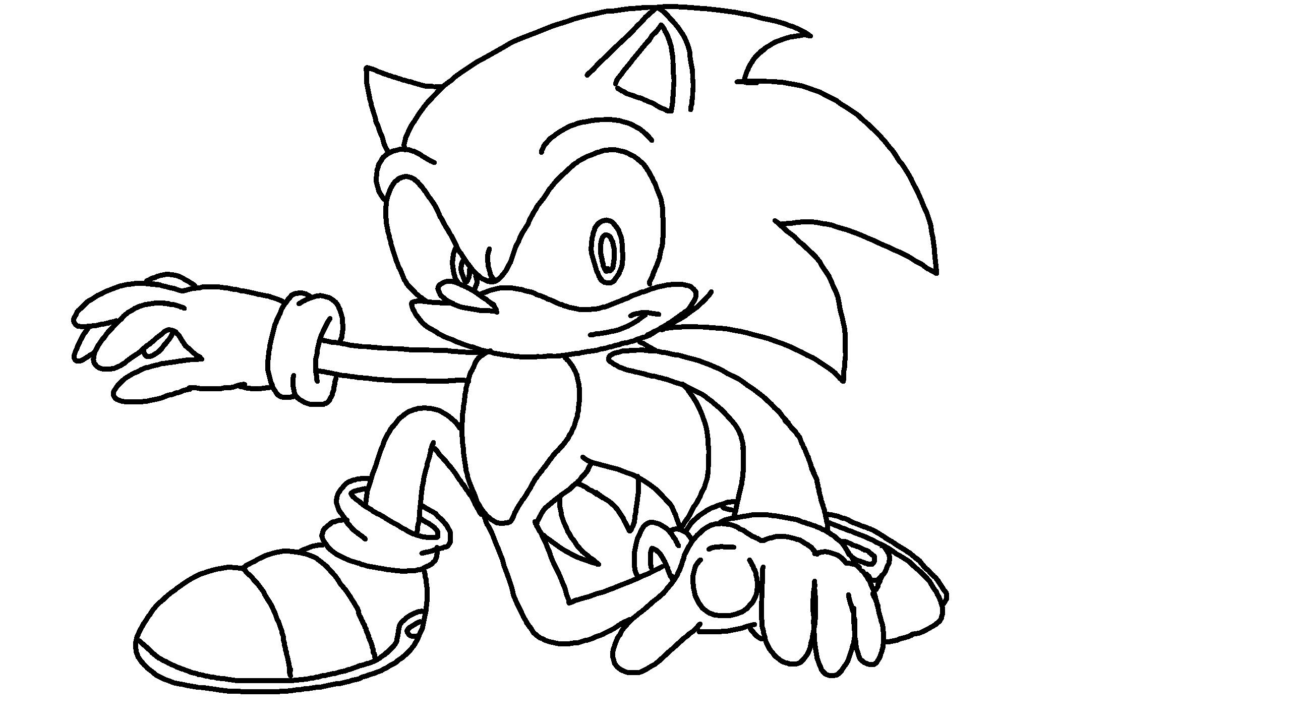 Sonic The Hedgehog Outline By Lego8gamer On Deviantart